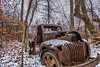 Old Truck at glacier ridge metro park in Plain City Ohio. (arthuroleary) Tags: abandoned truck rust ohio glacierridgemetropark plaincityohio trail december cold snow
