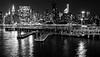 Muelle / Pier (López Pablo) Tags: pier river hudson manhattan new york nikon d7200 urban night skyscraper building bw