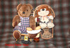 """""""First Footers"""".. Here we have Winston & Bertram about to have a Wee Dram. (Yesteryear-Automotive) Tags: whisky whiskey teddy bear new year first footer scotland wee dram"""