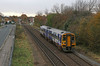 158787 - Hull (Andrew Edkins) Tags: 158787 class158 northernrail hull northlincolnshire railwayphotography passengerservice dmu people geotagged canon travel trip england uk humberbridge road light 2017 winter november trees commuter local selbystreet suspensionbridge levelcrossing signal unit cars street track sun