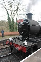 4277 awaits departure (g4vvz) Tags: gwr 4200 280t 4277 hercules steam engine churnet valley railway dartmouth uk br black bradnop froghall