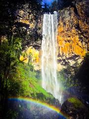 Purling Brook falls (Geoexplore) Tags: rainbow australia queensland springbrooknationalpark goldcoasthinterland purlingbrookfalls