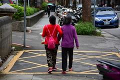 Pedestrians (Taipei, Taiwan 2017) (paularps) Tags: paularps arps 2017 2018 taiwan republicofchina asia azië nature culture chinese reizen travel fareast 101building taipei taipeh dumplings xiaolongbao dintaifung