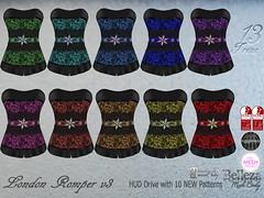 Treze. London Mini Romper v3 (trezedesigns) Tags: romper maitreya fashion fatpack lady pack pants bag beauty standard bra belleza chic secondlife treze tmp top triangle