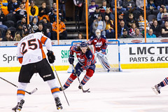 """Kansas City Mavericks vs. Kalamazoo Wings, January 5, 2018, Silverstein Eye Centers Arena, Independence, Missouri.  Photo: © John Howe / Howe Creative Photography, all rights reserved 2018. • <a style=""""font-size:0.8em;"""" href=""""http://www.flickr.com/photos/134016632@N02/38681934275/"""" target=""""_blank"""">View on Flickr</a>"""