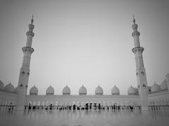 Sheik Zayed Mosque #3 (akarakoc) Tags: sheik zayed mosque abu dhabi blackandwhite
