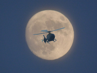 The last full moon of 2017 and the WMP helicopter