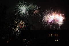 happy new year (planes, moon, nature) Tags: fireworks new year 2018 newyears eve night houses street celebration