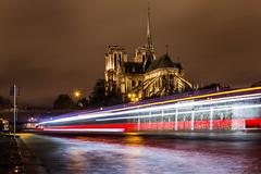 Lumières de Paris (Daniel_Hache) Tags: notredamedeparis paris seine bateaumouche night nuit pont quai flickrchallengegroup