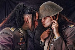 Dispute (RickB500) Tags: pair couple portrait uniform cosplay rickb rickb500 anne helmet vintage