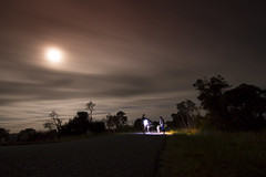 Midnight road (alideniese) Tags: smileonsaturday fromoldtonew 7dwf landscape nightscape night nightphotography moon sky clouds longexposure road country australia victoria people friends lights dark eerie newyearseve 31december2017 1january2018 alideniese nightsky empty notraffic group fun countryside rural blurred movement