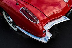 Red Tail Light (maberto) Tags: carshow chevorlet chevy corvette d7200 folsom nikon automobile bumper chrome fender red taillight trunk whitewalls ©bradmaberto