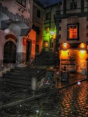 Rainy night.... (Sherrianne100) Tags: rainynight rain quaint medieval českýkrumlov czechrepublic