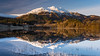 Ben Venue Reflections (roseysnapper) Tags: scotland trossachs landscape mirror outdoor peaceful reflection serene snow still tranquil winter tree mountain lochachray benvenue nikond810 nikkor2470f28 circularpolarizer
