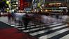 Shibuya crossing 3 (LukaBoban) Tags: shibuya tokyo japan street people intersecion zebra stripe long exposure urban city travel busy canon powershot g15