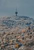 Radio Tower (bluishgreen12) Tags: winter snow ladscape city houses tower hill hum sarajevo bosnia nature vintagelens manualfocus konicahexar