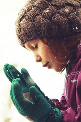 -Cold- (noemiservetto) Tags: cold snow sister snowing winter portrait face canon blow play happiness