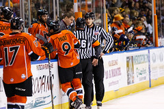 "Kansas City Mavericks vs. Colorado Eagles, December 16, 2017, Silverstein Eye Centers Arena, Independence, Missouri.  Photo: © John Howe / Howe Creative Photography, all rights reserved 2017. • <a style=""font-size:0.8em;"" href=""http://www.flickr.com/photos/134016632@N02/39106653642/"" target=""_blank"">View on Flickr</a>"