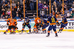 "Kansas City Mavericks vs. Colorado Eagles, December 16, 2017, Silverstein Eye Centers Arena, Independence, Missouri.  Photo: © John Howe / Howe Creative Photography, all rights reserved 2017. • <a style=""font-size:0.8em;"" href=""http://www.flickr.com/photos/134016632@N02/39138071321/"" target=""_blank"">View on Flickr</a>"