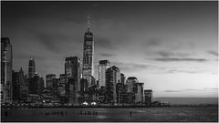 New York (beninfreo) Tags: newyork manhattan sunset canon canon5d3 1740mml 2017 contrast skyline urban city oneworldtradecentre oneworldtradecenter skyscraper tower mono monochrome blackandwhite bw