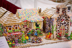 belle's village (raspberrytart) Tags: festivaloftrees christmas gingerbread gingerbreadhouse gingerbreadcookie cookie candy decorating nikon d7100