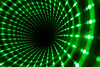 Green Vortex (brucetopher) Tags: science vortex whirlwind funnel spin light green lights 3d illusion circular perception depth eventhorizon infinite infinity endless perspective deep hole blackhole mirror trick opticalillusion optical