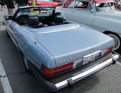 Mercedes-Benz 380 SL (D70) Tags: r107 1971–1989 mercedesbenz 380 sl 1952 chevrolet deluxe 2door hardtop oakridge easter car show 2012