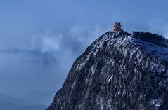 Mt. Emei Summit (kokorozukai) Tags: leshanshi sichuansheng china cn mt emei shan sichuan leshan city temple buddhist summit snow icy cold weather fog mist