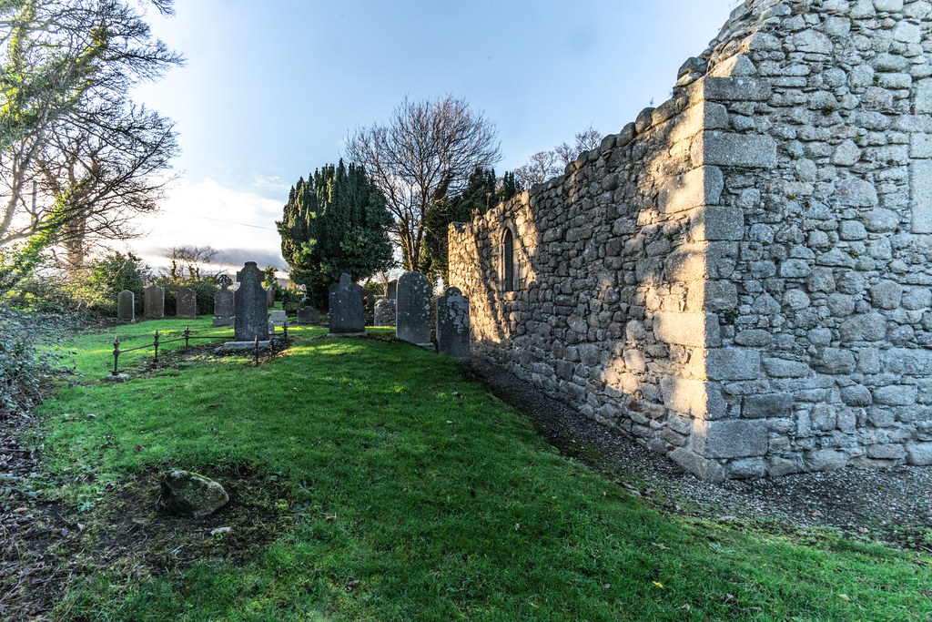 ANCIENT CHURCH AND GRAVEYARD AT TULLY [LAUGHANSTOWN LANE NEAR THE LUAS TRAM STOP]-134585