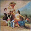 The Grape Harvest (pefkosmad) Tags: jigsaw puzzle complete hobby leisure pastime waddingtons unopened sealed vintage goya thegrapeharvest fineart art painting