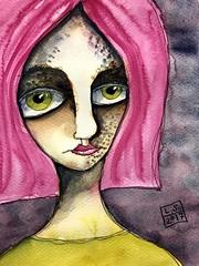 (greendot) Tags: danielsmith watercolor watercolors akvarell aquarell aquarelle watercolour watercolours painting janedavenportinspiresme ink afaceaday face
