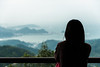 Somewhere a place for us (Thibaud Saintin) Tags: jiufen taiwan evening view woman meditation meditative loneliness twilight mountain sea dusk pacific ocean