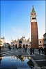 Place San Marco, Venise. (nanie49) Tags: sanmarco saintmarc campanile basilique basilica reflection venise venezia venice italie italy italia nanie49 nikon d750 polarisant piazzasanmarco