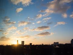 Sunrise (Jeroen Hillenga) Tags: groningen sunrise ochtend zonsopkomst morning bluesky blauwelucht netherlands nederland