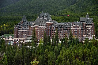 The Banff Springs Hotel in Late Summer from Surprise Point