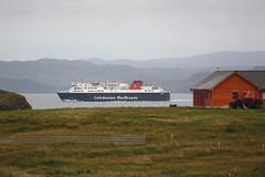 Calmac: Autofähre ISLE OF LEWIS verlässt Stornoway in Richtung Ullapool (Helgoland01) Tags: schottland scotland uk äuserehebriden outerhebrides lewis fähre ferry schiff ship passagierschiff atlantik calmac