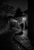 walking alone-5144 (jara311) Tags: nuit noiretblanc monochrome rue pluie parapluie femme