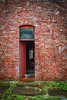Red Door (AP Imagery) Tags: urbex forgotten decay old brick onepoint vintage rainy abandoned door red kentucky usa