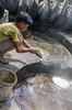 hot job (Pejasar) Tags: family business sugarcane processing neardelhi india boy son vats heat steam work labor helper young child foam impurities separate