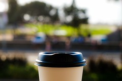 First cup of coffee for 2018 (Macro Focus) Tags: newyear 2018 newsouthwales australia sydney bondibeach beach coffee
