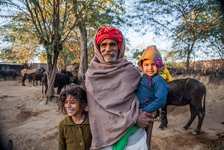 People of Jaipura Garh, Rajasthan, India