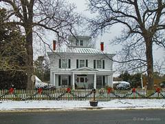 The Valentine House (r.w.dawson) Tags: bowlinggreen carolinecounty virginia va winter snow architecture building smalltown house home abode fence