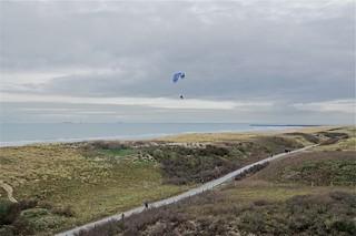 Paramotorgliding langs de kust