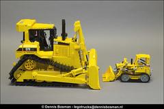 CAT D7R vs. 856 (legotrucks) Tags: cat caterpillar d7r lgp lego legotrucks 856 1979 technic dennisbosman