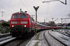 P1420003 (Lumixfan68) Tags: eisenbahn züge loks baureihe 218 dieselloks deutsche bahn sonderzüge db regio