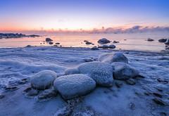 Together (tinamar789) Tags: cold morning rocks ice icy snow frost freezing frozen sea seashore seascape seasmoke sunrise winter water landscape lauttasaari helsinki horizon finland