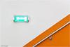 Fluchtweg (geka_photo) Tags: gekaphoto kiel schleswigholstein deutschland sophienhof einkaufszentum shoppingmall mall wand fluchtweg orange handlauf