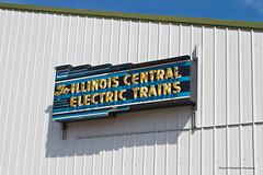 Illinois Central Electric Trains (tim_1522) Tags: railroad railfanning illinoisrailwaymuseum irm union rail illinois il neon station sign illinoiscentral electric