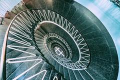 Vertigo II (**capture the essential**) Tags: 2017 architecture architektur fotowalk munich münchen sonya6300 sonyilce6300 spiral staircase stairs treppen treppenhaus zeisstouit2812 zeisstouitdistagon2812