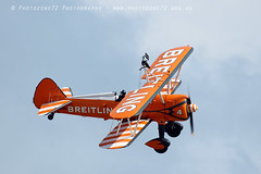 3517 wingwalkers (photozone72) Tags: eastbourne airshows aircraft airshow aviation breitlingwingwalkers breitling wingwalkers boeing stearman biplane canon canon7dmk2 canon100400f4556lii 7dmk2